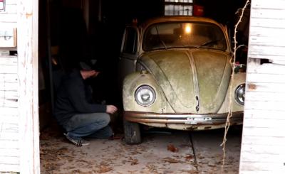 VW Bogár pajtalelet